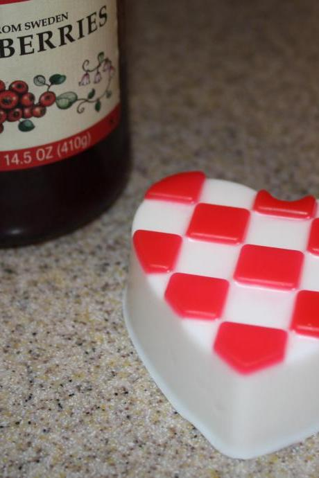 Checked Heart Soap